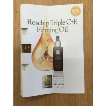 Eminence Rosehip Triple C+E Firming Oil, Pack 6 Samples, New, Free Shipping