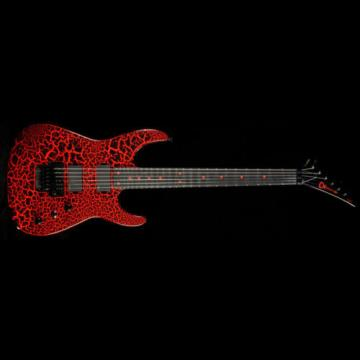 Charvel Custom Select Dinky Electric Guitar Black Red Crackle