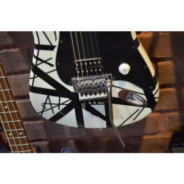 NOS Charvel Art Series EVH Van Halen Electric Guitar Black & White Inv # RG12.5