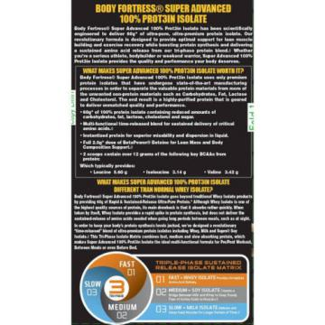 Body Fortress Super Advanced Protein Isolate Chocolate Dietary Supplement, 24 oz