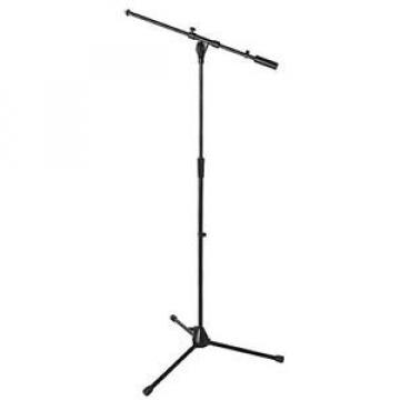 OnStage On Stage MS9701B Plus Pro Tripod Microphone Boom Stand, Black