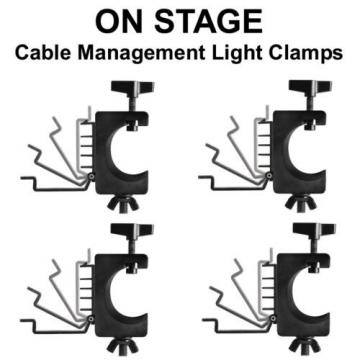 ON-STAGE LTA4880 4-Pack Non Marring Cable Management Clean Set-up Light Clamps