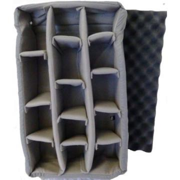 Grey Padded divider set & lid foam.  Fits Pelican 1510 & SKB 3i-2011-7 (NO CASE)