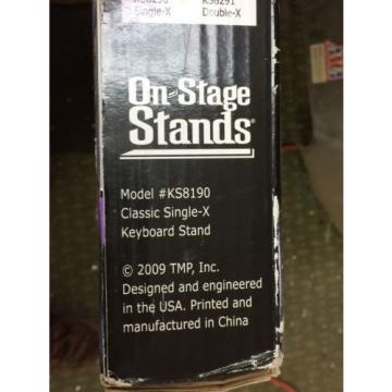 OnStage On Stage KS8190 Lok-Tight Classic Single-X Keyboard Stand