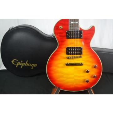 EPIPHONE LES PAUL CUSTOM PROPHECY PLUS GX WITH EPI CASE, Int'l Buyers Welcome