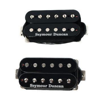 Duncan SH6 Distortion Mayhem Pickup Set, Black + Les Paul Wiring Harness Long