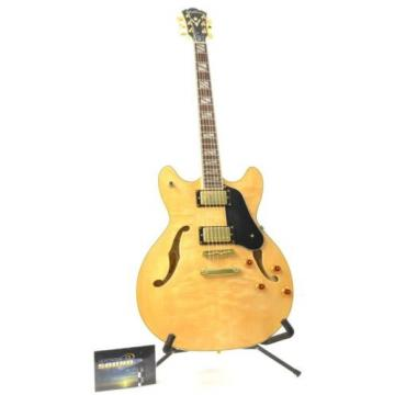 Washburn HB-35 NK Semi-Hollowbody Electric Guitar - Natural w/OHSC HB35