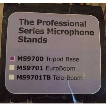 Lot of 3 MS9700 - Stage Professional Microphone Stands + 3 XLR 20' Long Cables