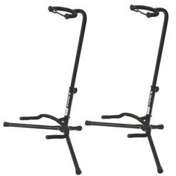 NEW On Stage XCG4 Black Tripod Guitar Stand, 2 Pack