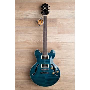Wolf WA TM Sky Blue [ES339 Size Deeper Body] Semi Hollow Electric Guitar 2017