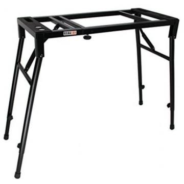 Portable Mixer Stand Foldable Keyboard Table DJ Gear Top On Stage Perfect Adjust