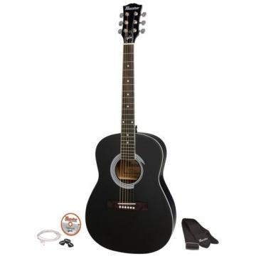 "Gibson Maestro 38"" Parlor Size Acoustic Guitar, Ebony, with Accessories"