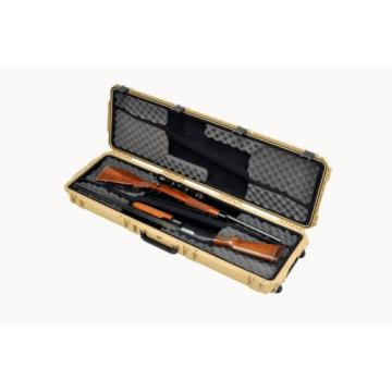 Desert Tan SKB 3i-5014-DR-T Double Rifle With foam. With 2 TSA Locking latches