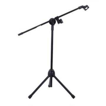 Ohuhu Microphone Stand Dual Mic Clip / Collapsible Tripod Boom Stand