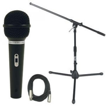 Audio Technica ST90-MKII Mic with Short Stand & XLR Cable Pack