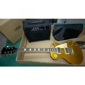 SET DE LUXE  CHITARRA ELETTRICA LES PAUL STYLE PLUS TOP NEW ORLEANS COLOR ORO