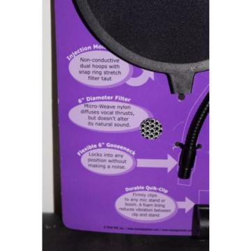"On-Stage stands Gear ASVS6 6"" Pop Blocker Pop Filter with 6"" gooseneck + Clamp"