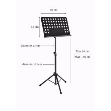 Heavy Duty Portable Adjustable Sheet Music Stand Diameter 2.9 cm iMS908