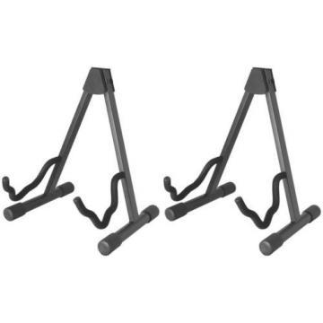 On-Stage Stands Standard Single A-Frame Guitar Stand (2-pack) Value Bundle
