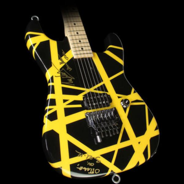 Used 2012 Charvel EVH Art Series Electric Guitar Black & Yellow #1 image