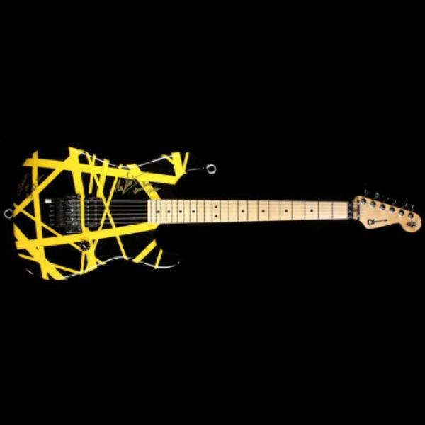 Used 2012 Charvel EVH Art Series Electric Guitar Black & Yellow #2 image