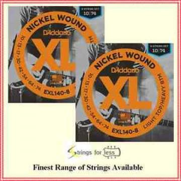 2 Sets D'Addario EXL140-8 Nickel-wound Electric Guitar Strings  8-String 10 - 74