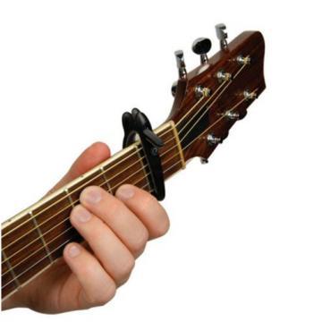 New D'Addario Planet Waves Ratchet Guitar Capo - Black - CP-01