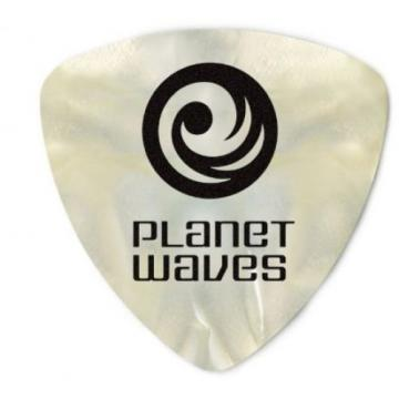 Planet Waves White Pearl Celluloid Wide Guitar Picks, 100 Pack, Light