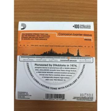 D'addario EJ41 12-String Phosphor Bronze AcousticGuitar Strings Extra Light 9-45