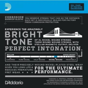 D'Addario EXL110-10P Nickel Wound Electric Guitar Strings Regular Light 10-46...