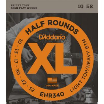 5 sets D'Addario Half Rounds EHR340 Light Top Heavy Bottom Guitar Strings