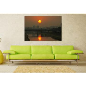 Stunning Poster Wall Art Decor São Paulo Eventide Urban City 36x24 Inches