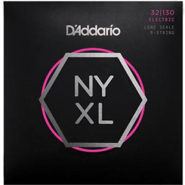 D'Addario NYXL32130 Bass Strings Long Scale 6 String Regular Light