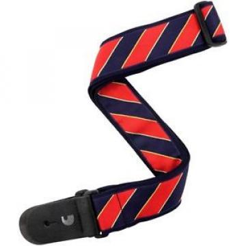 "2"" Guitar Strap, Tie Stripes"