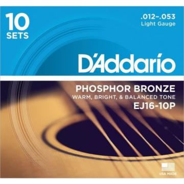 D'Addario EJ16 Phosphor Bronze Light Acoustic Stri