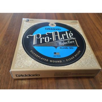 3 SÉRIES Pack D'Addario Pro Arte Cordes Pour Guitare Classique Normal & Rigide