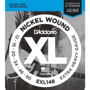 D'Addario EXL148 Nickel Wound Electric Guitar Strings extra heavy 12-60