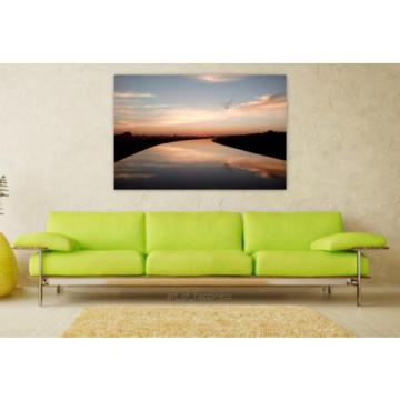 Stunning Poster Wall Art Decor Water Reflection Placidity Eventide 36x24 Inches