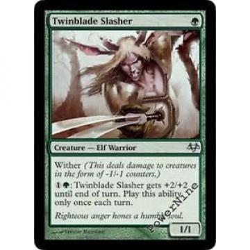 4 Twinblade Slasher ~ Green Eventide Mtg Magic Uncommon 4x x4