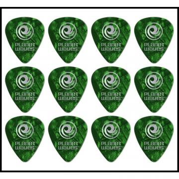 Planet Waves 12 Standard Picks Celluloid Extra Heavy Gauge Green Pearl 12 Picks