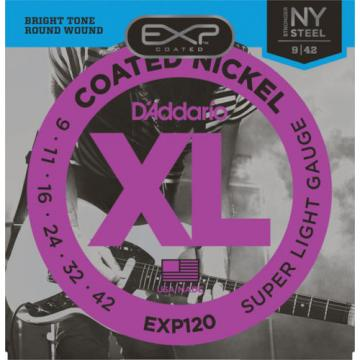 3 pack D'Addario Set EXP120 Super Light Electric Guitar Strings 9-42 3 sets!!