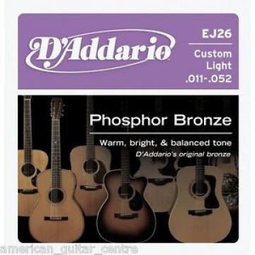D'Addario EJ26 Custom Light Gauge Acoustic Guitar Strings