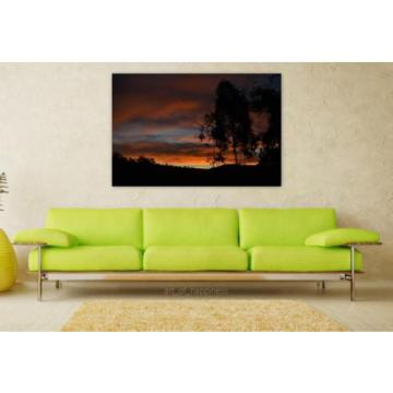 Stunning Poster Wall Art Decor Eventide Minas Sunset Brazil 36x24 Inches