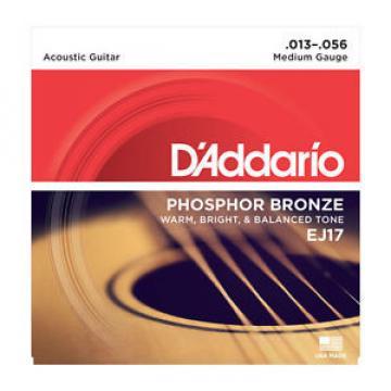 D'Addario EJ17 Phosphor Bronze Acoustic Guitar Strings Light 13-56