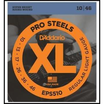 D'Addario EPS510 ProSteels Super Bright Light Electric Guitar Strings 10 - 46