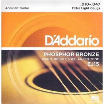 D'Addario EJ15 für Akustikgitarre, 10er, I4-