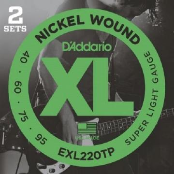 2 Sets Of D'Addario XL Nickel Round Wound Bass Strings - Various Gauges
