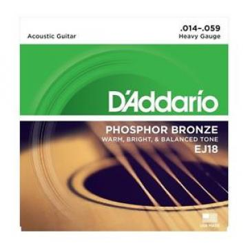 D'addario Ej18 Phosphor Bronze 14-59 Acoustic Strings, Heavy