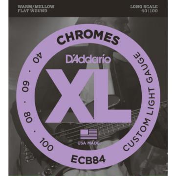 D'Addario Chromes ECB84 Custom Light Flatwound Electric Bass Bass Strings