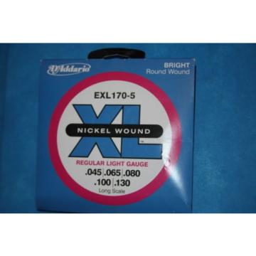 D'Addario EXL170-5 5 String Long Scale Electric Bass Strings, CLOSEOUT PRICE!